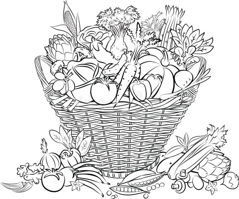 Cesta do vegetal fotografia de stock