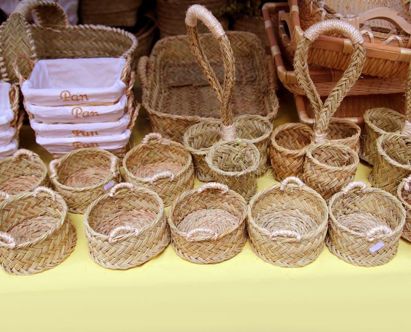 Cesta esparto da ENEA de Spain da cestaria do Basketry fotos de stock