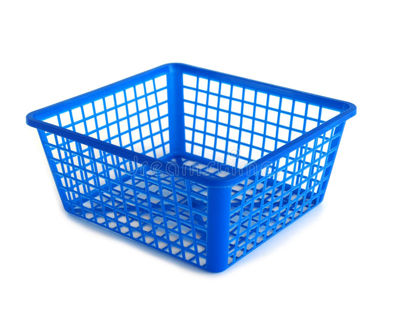Cesta plástica imagem de stock