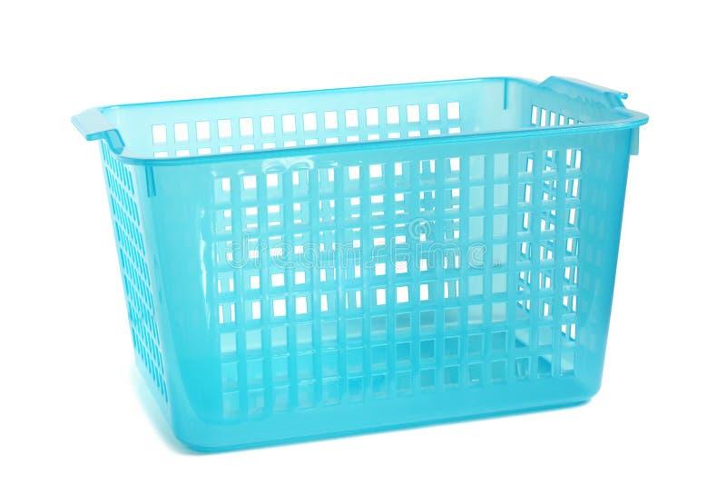Cesta plástica azul fotografía de archivo libre de regalías
