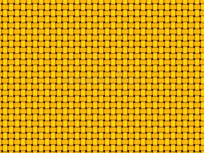 Cesta - teste padrão do weave ilustração stock