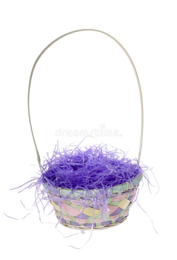 Cesta vazia de Easter imagem de stock royalty free