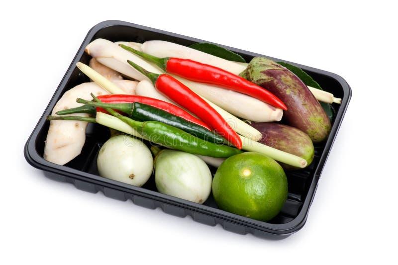 Cesta vegetal en rectángulo foto de archivo libre de regalías