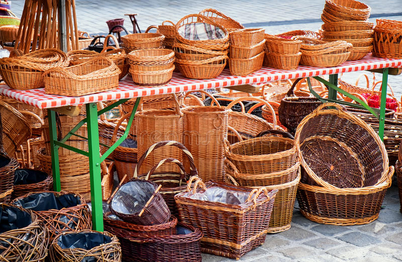 cestas imagens de stock royalty free