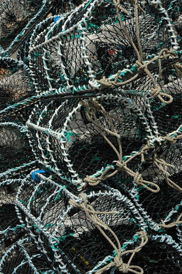 Cestas de la pesca fotos de archivo