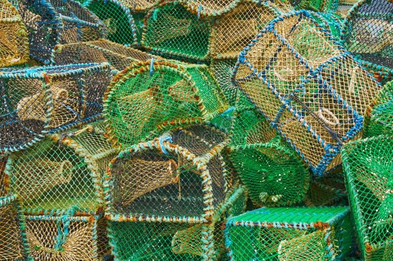 Cestas de la pesca fotografía de archivo