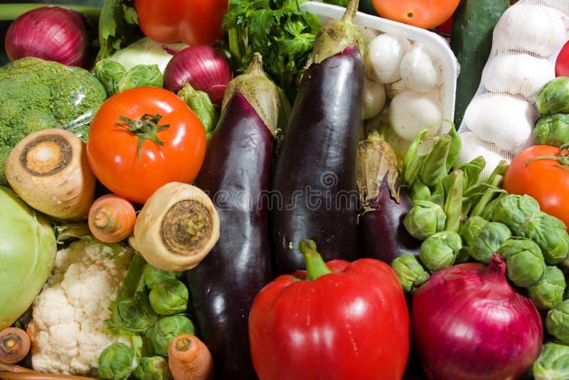 Cestas dos vegetais imagem de stock