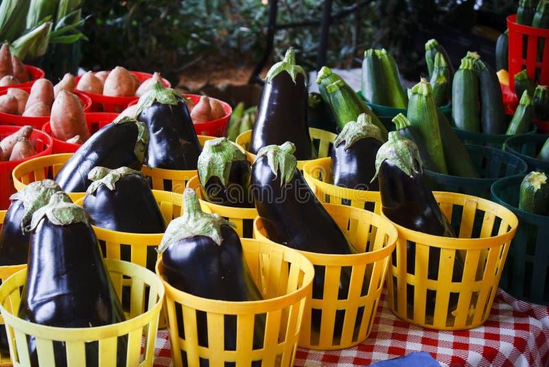 Cestas dos vegetarianos fotografia de stock