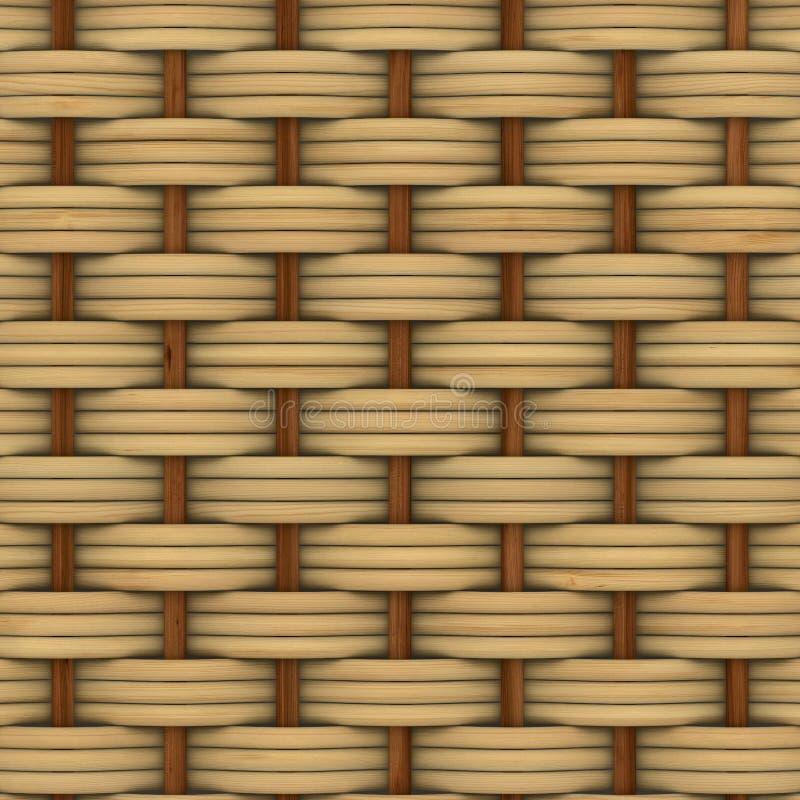 Cestería texturizada de madera decorativa abstracta stock de ilustración