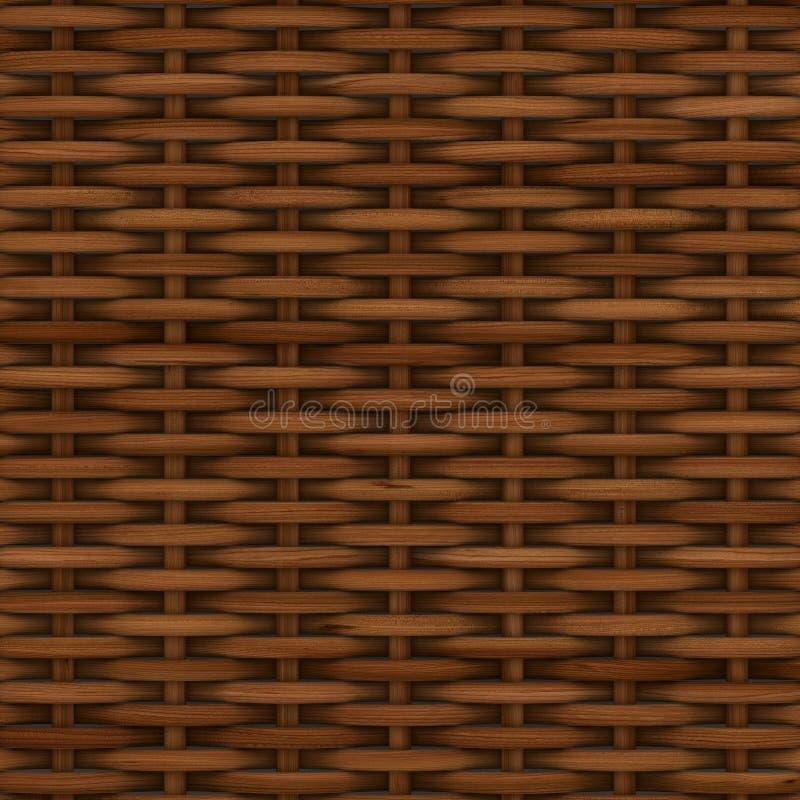 Cestería texturizada de madera decorativa abstracta ilustración del vector