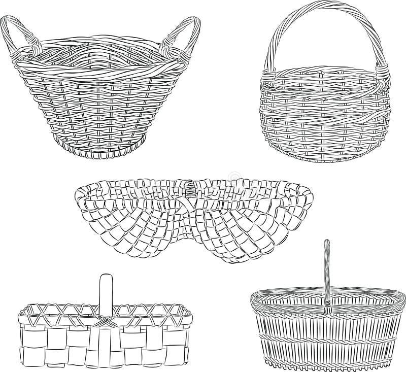 cestini illustrazione di stock