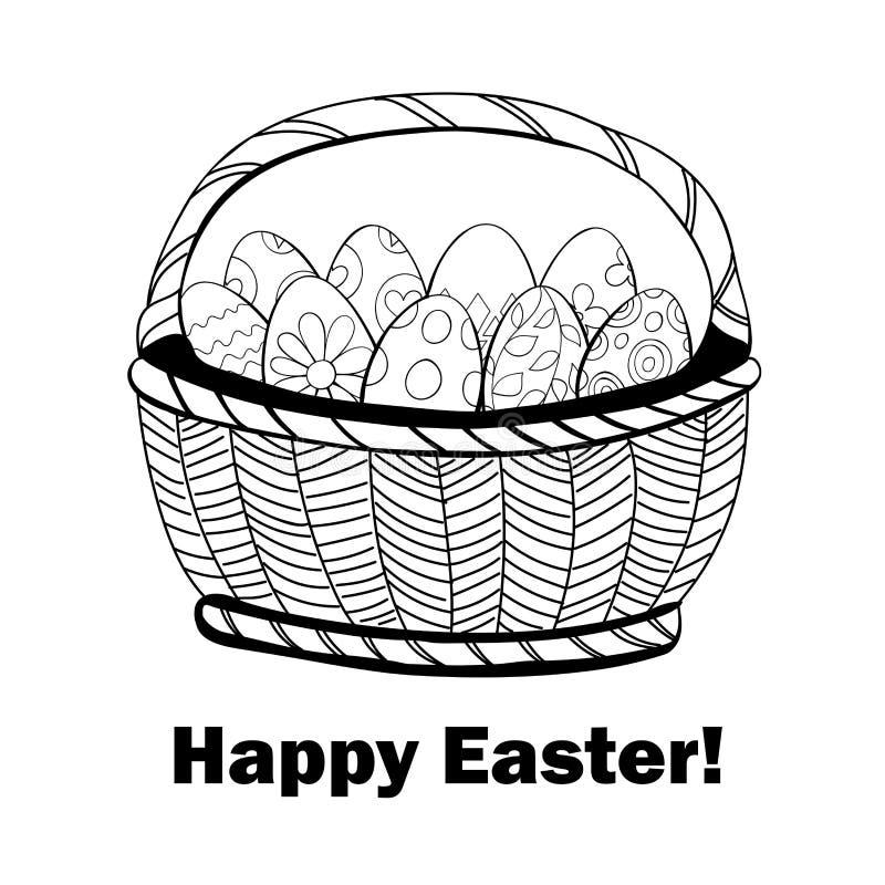 Cestino con le uova di Pasqua royalty illustrazione gratis