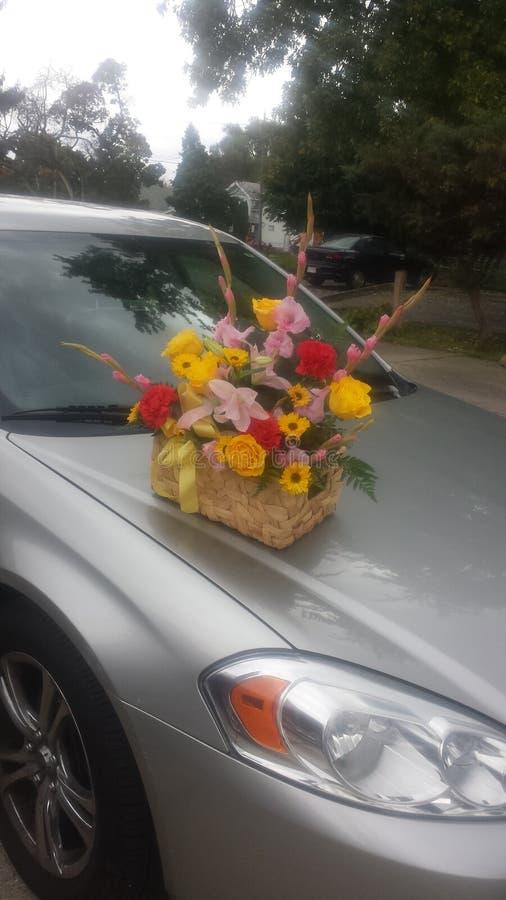 Cestino dei fiori fotografia stock libera da diritti