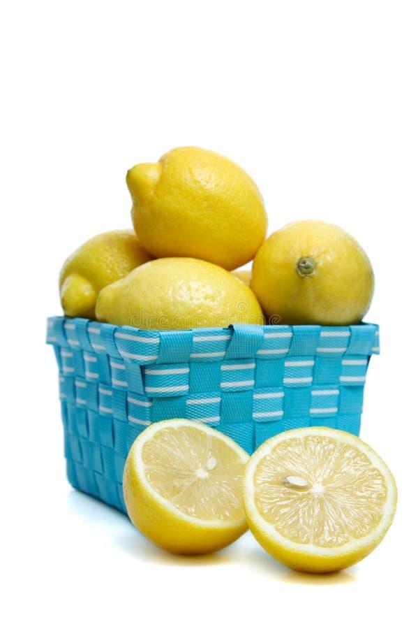 Cestino dei limoni fotografia stock libera da diritti