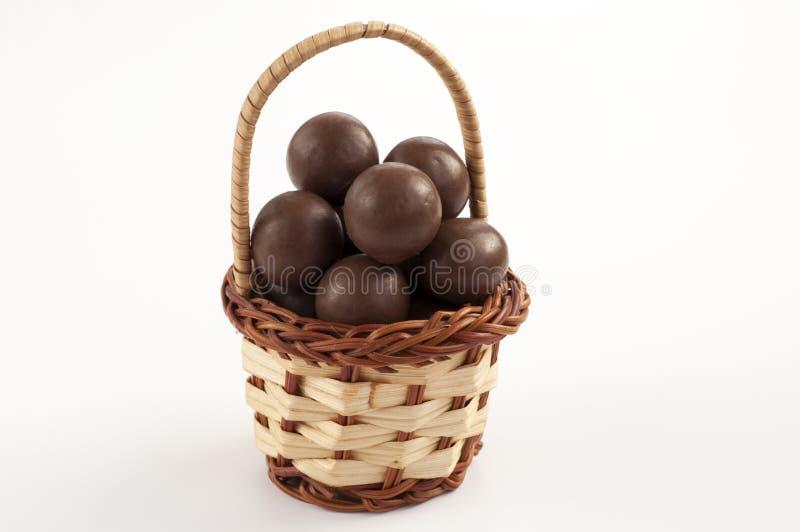 Cestino del cioccolato fotografia stock libera da diritti