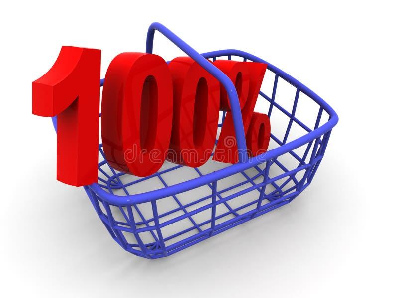 Cestino del consumatore illustrazione di stock
