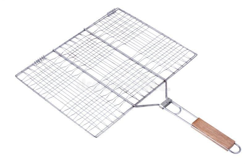 Cestino della griglia del barbecue isolato su bianco fotografia stock