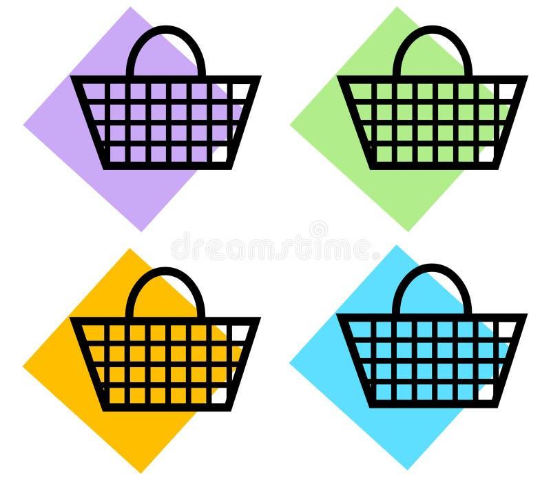 Cestino di acquisto illustrazione vettoriale