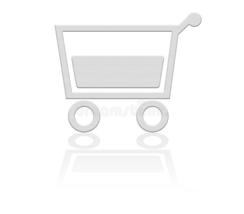 Cestino di acquisto, tasto del carrello illustrazione vettoriale