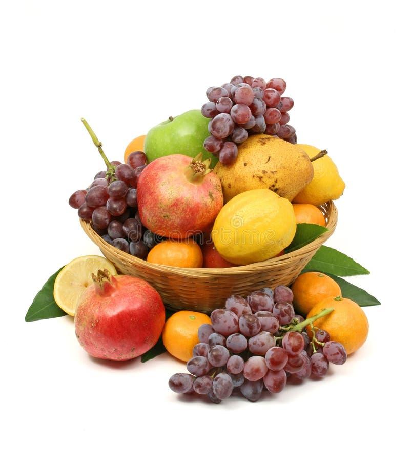 Cestino di frutta mediterraneo fotografia stock libera da diritti