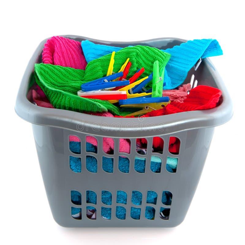 Cestino di lavanderia fotografia stock