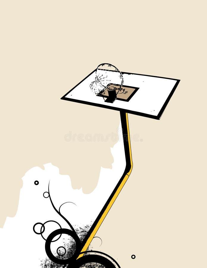 Cestino di pallacanestro. Vettore illustrazione di stock