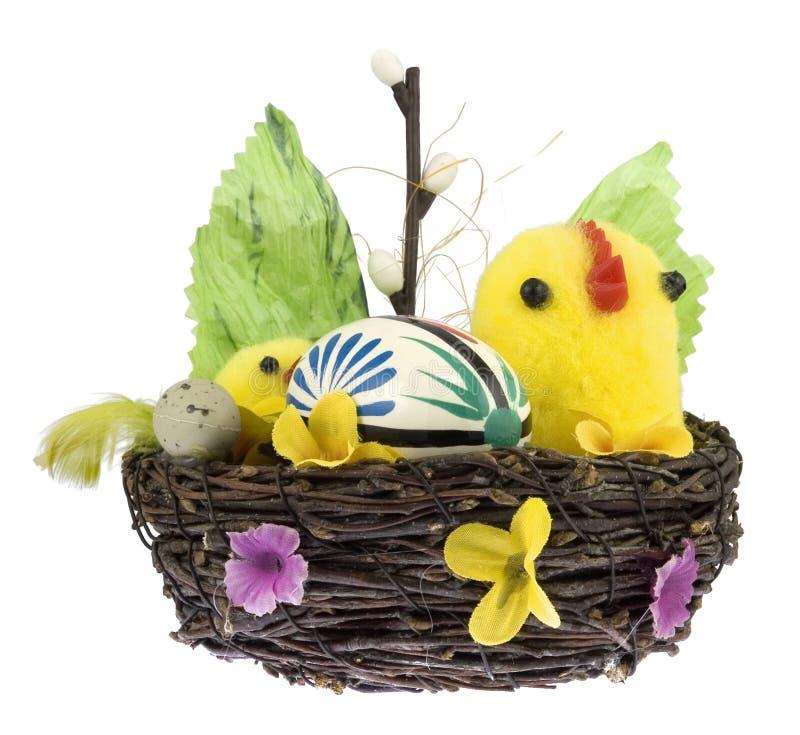 Cestino di Pasqua immagine stock