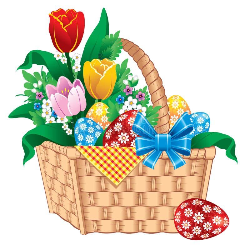 Cestino di Pasqua royalty illustrazione gratis