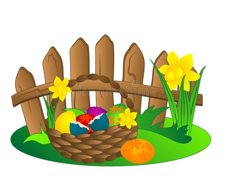 Cestino di Pasqua illustrazione di stock