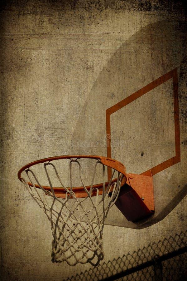 Cestino Grunge di pallacanestro fotografie stock