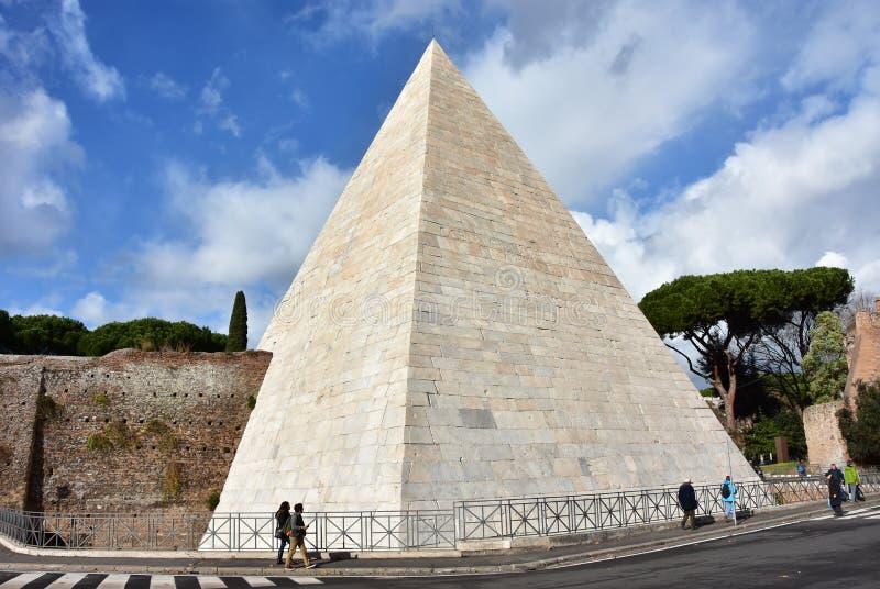 Cestius金字塔 免版税库存照片