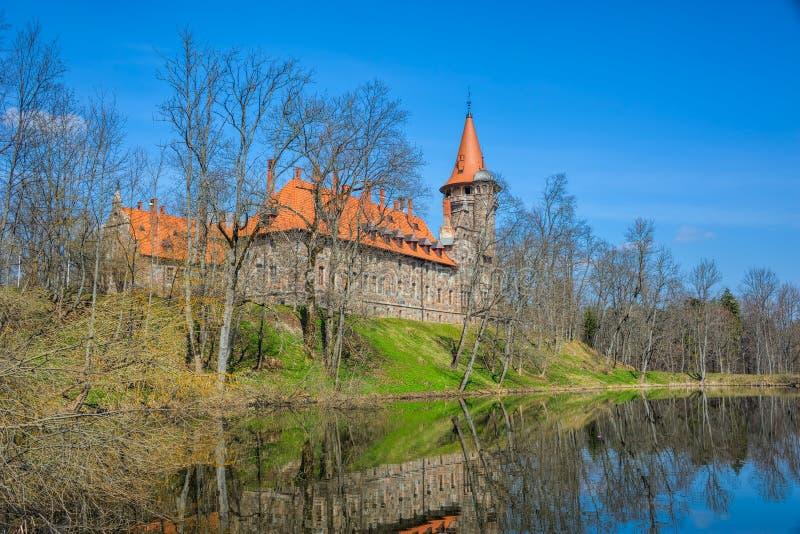 Cesvaine slott royaltyfri fotografi