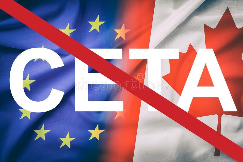 CETA begrepp fotografering för bildbyråer