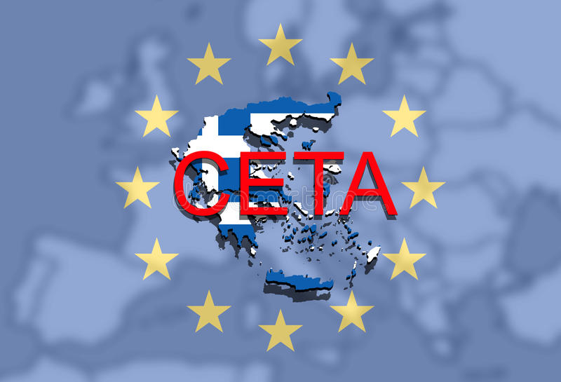 Ceta comprehensive economic and trade agreement on euro background download ceta comprehensive economic and trade agreement on euro background greece map stock illustration platinumwayz