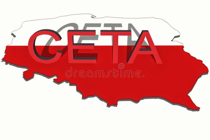 Ceta Comprehensive Economic And Trade Agreement On Poland Map