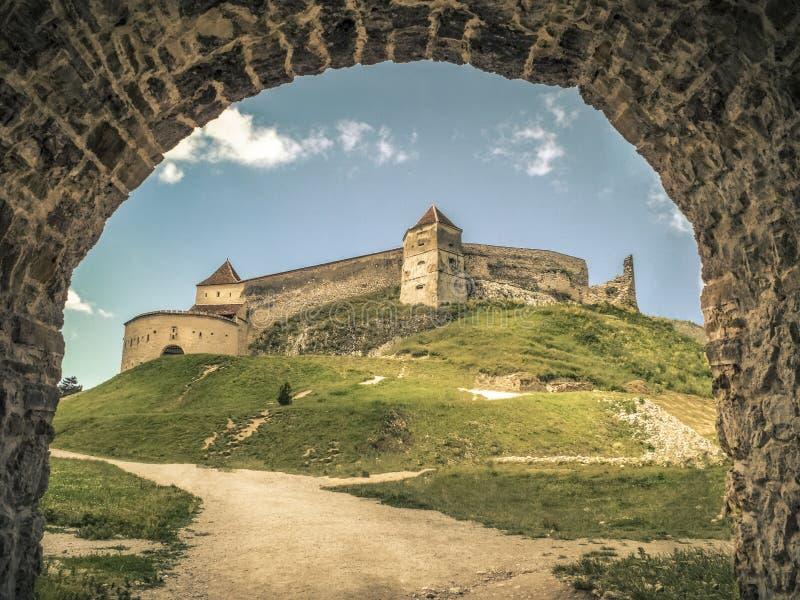 Cetatea Rasnov/Rasnov-Citadel royalty-vrije stock afbeeldingen