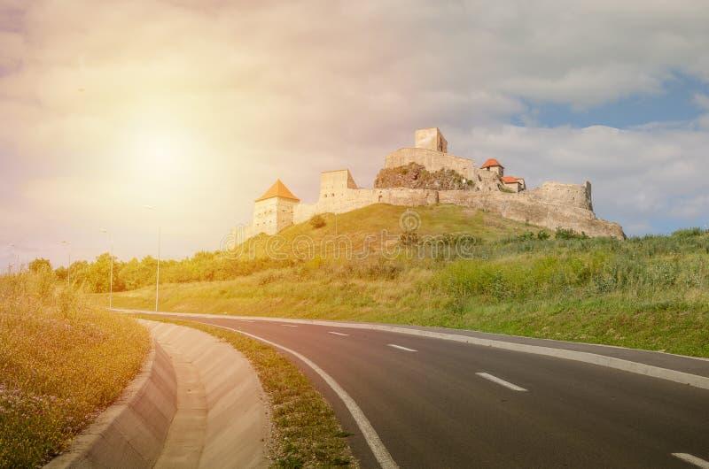 Cetatea Rupea, Brașov, România - At the top of the hill royalty free stock image