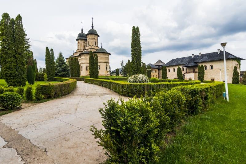 Cetatuia修道院在Iasi,罗马尼亚 免版税图库摄影