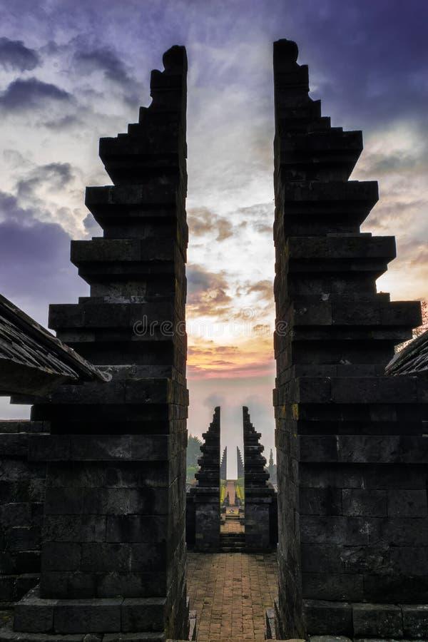 Cetho-Tempel stockfotos