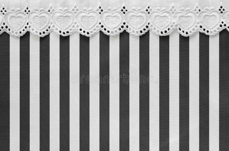 Cetim branco e preto com laço imagens de stock royalty free