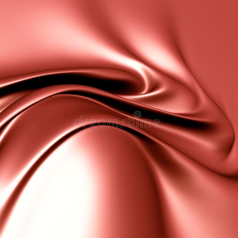 Cetim de seda vermelho elegante ilustração do vetor