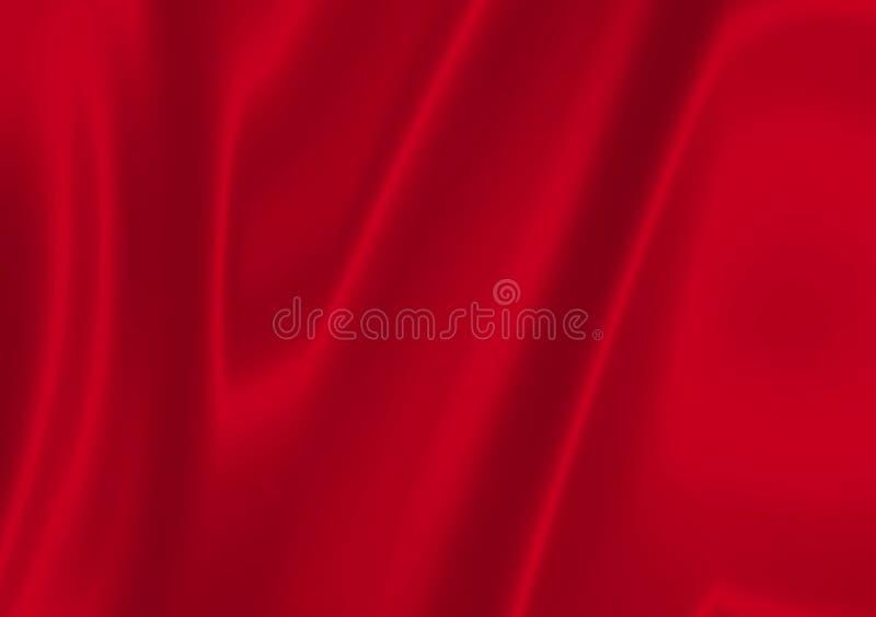Cetim vermelho ilustração do vetor