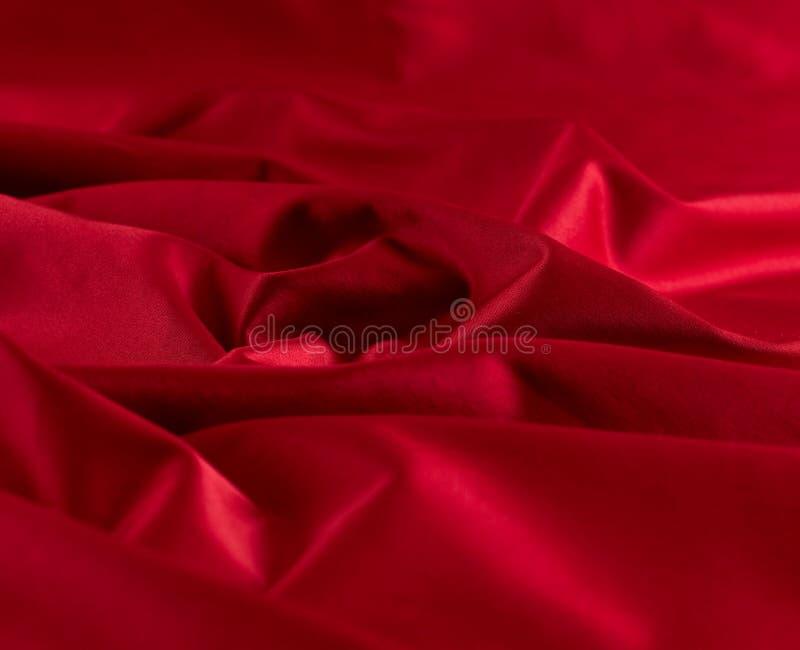 Cetim vermelho fotografia de stock royalty free