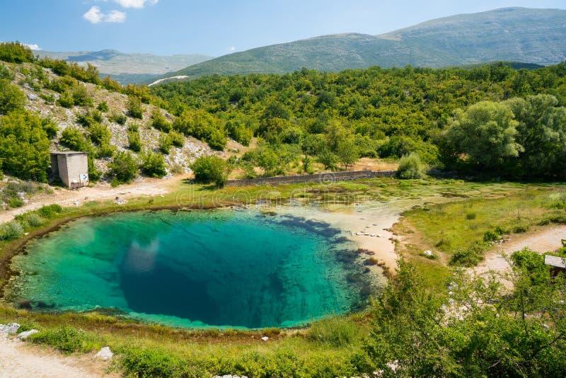 Cetina źródła wody wiosna w Chorwacja obrazy stock
