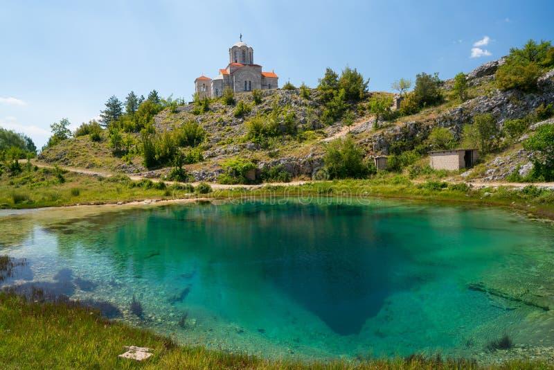 Cetina źródła wody wiosna w Chorwacja zdjęcie stock