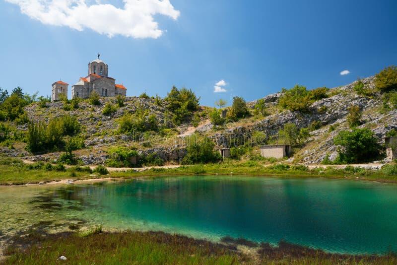 Cetina źródła wody wiosna w Chorwacja fotografia royalty free