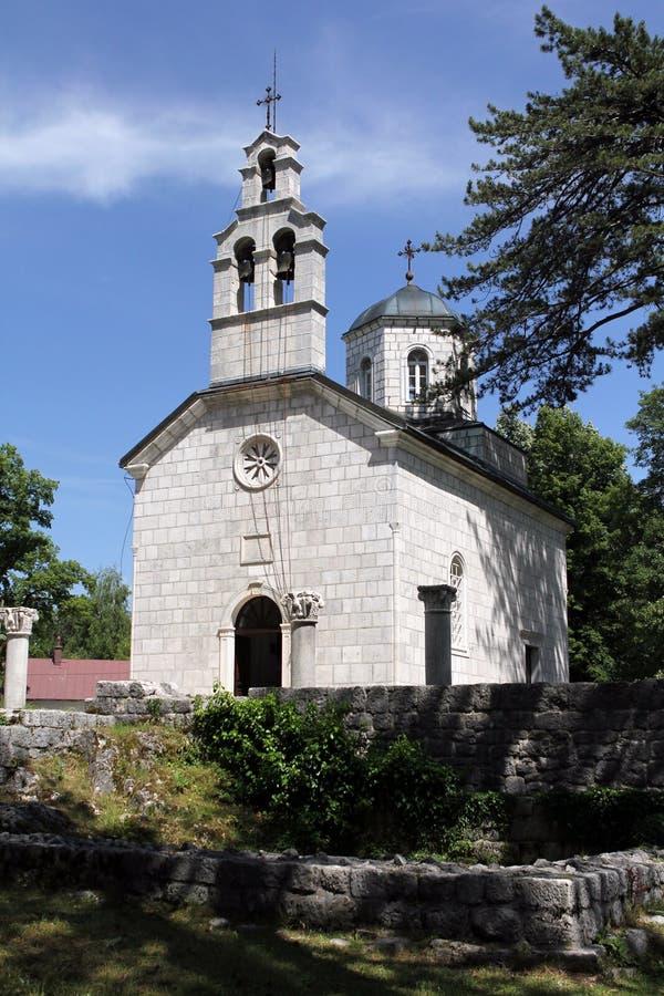 cetinje教会montenegro老正统 免版税图库摄影