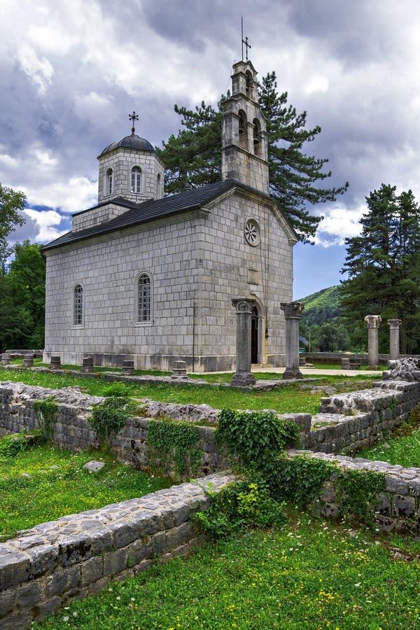 Cetinje, Montenegro (de oude hoofdstad van Montenegro) stock foto's
