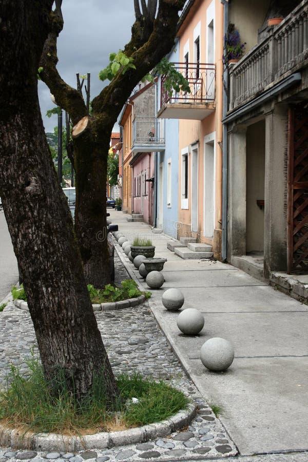 Cetinje street stock photography