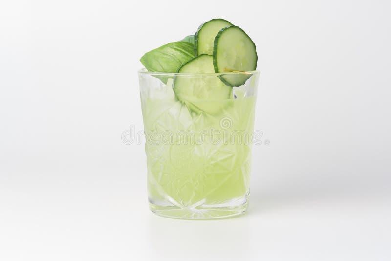 Cetriolo Basil Smash Cocktail fotografia stock